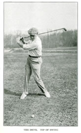 Alex Smith Open Champion, United States and Western Open Champion The Drive Top of Swing