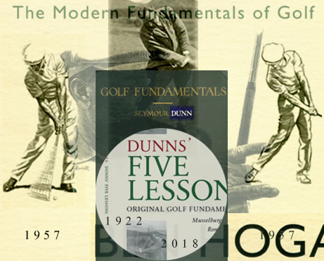 Ben Hogan Five Lessons Dunns' Five Lessons Original Golf Fundamentals 1897