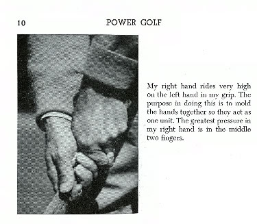 Keep both hands fitted compactly together