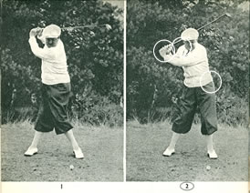 Drag with the left hand at the beginning of the downswing by Bobby Locke