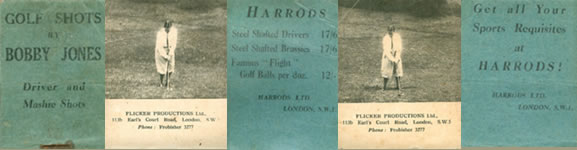 Flicker Productions Ltd. Golf Shots By Bobby Jones  Driver and Mashie Shots Get All Your Sports Requisites at Harrods