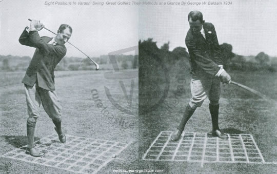 Eight Positions in Vardon's Swing in Great Golfers Their Methods at a Glance By George W. Beldam 1904