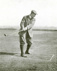 Coming Down As the club should come down i.e., behind the player Harry Vardon How I Play Golf 1913