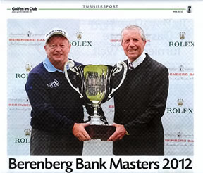 Ian Woosman Winner of the Berenberg Bank Masters 2011 - with Gary Player