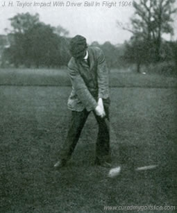 Great Golfers Their Methods at a Glance By George W. Beldam J H Taylor At Impact with Driver 1904