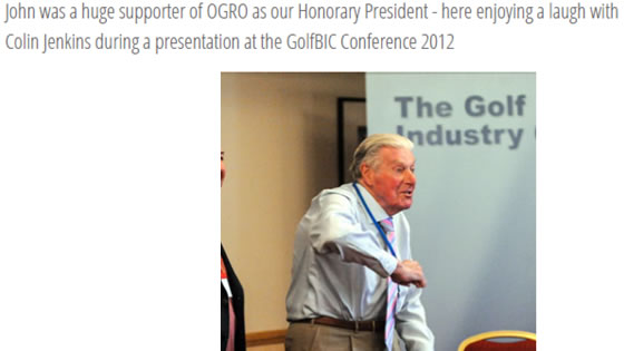 John Jacobs Huge Supporter of OGRO 2012