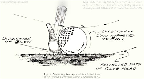 Producing backspin with a lofted iron by Bobby Jones
