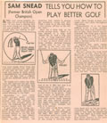 Sam Snead Tells You How To Play Better Golf