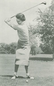 Start of the Down-swing By Louise Suggs Par Golf for Women 1953