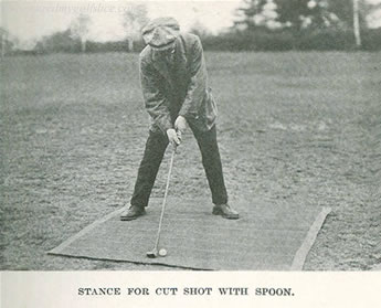 Stance For Cut Shot With Spoon Sandy Herd Success At Golf Sandy Herd 1913