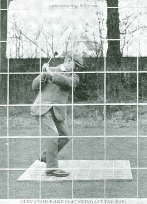 Open Stance And Flat Swing (At The Top) J.H. Taylor