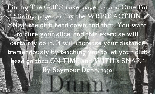 Snap The Clubhead Thru Exercise Seymour Dunn