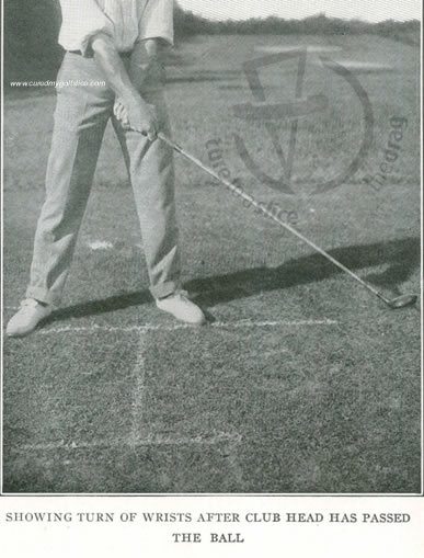 Showing Turn Of Wrists After Club Head Has Passed The Ball Lessons In Golf Alex Smith Open Champion 1907